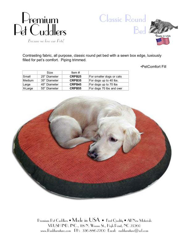 Classic Round Pet Bed